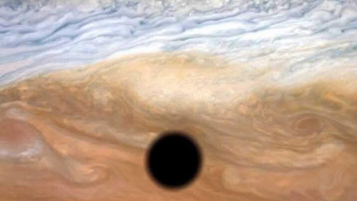 Как происходит затмение на Юпитере