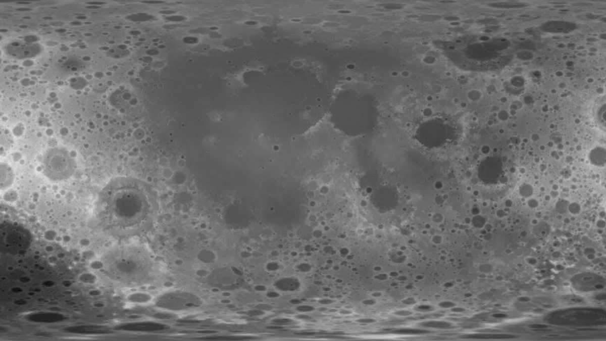 В NASA создали трехмерную карту Луны