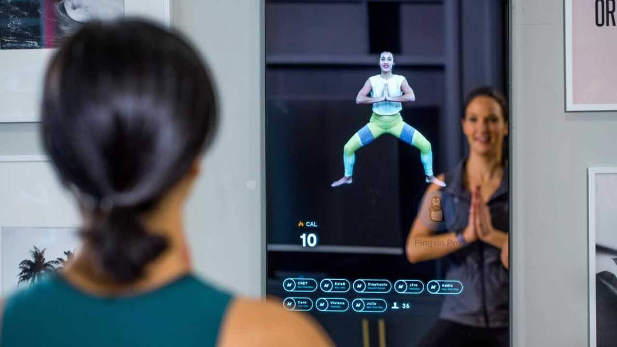 Створили розумне дзеркало із віртуальним тренером