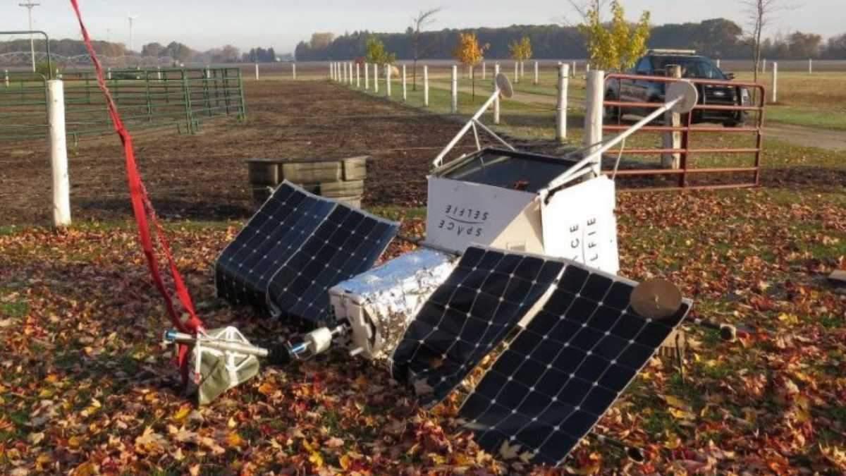 Спутник Samsung упал на ферму в США: видео