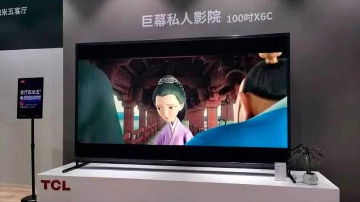 Китайці випустили 100-дюймовий телевізор: коштує понад чверть мільйона гривень