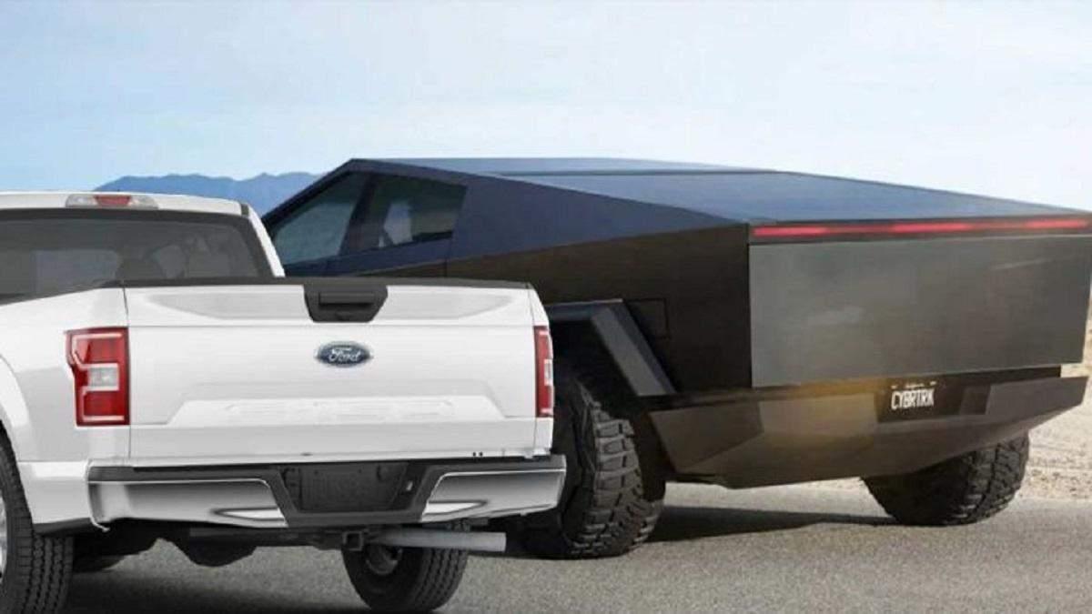 Ford F-150 проти Tesla Cybertruck