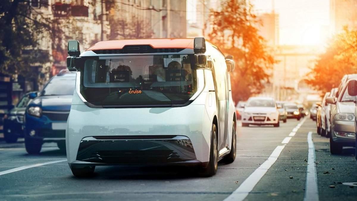 """Представили електричний """"мікроавтобус"""" без керма та педалей: фото та відео"""