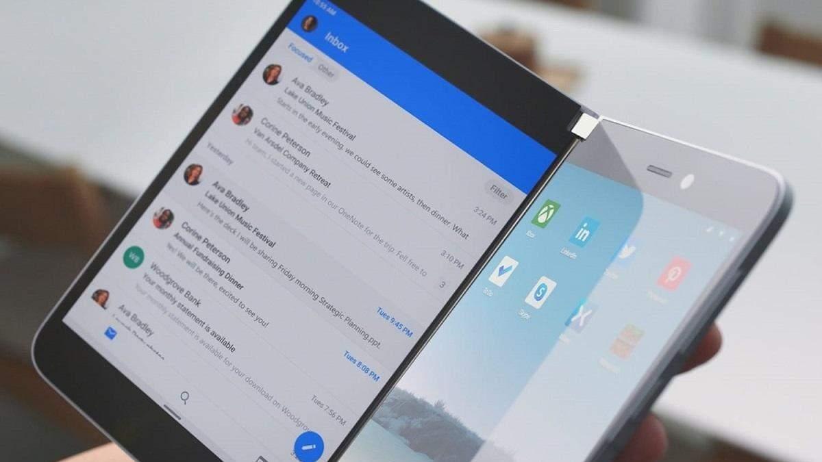 Surface Duo – революційний андроїд-смартфон від Microsoft: відео роботи двоекранного інтерфейсу