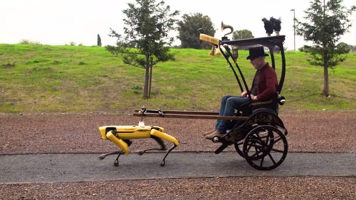Разрушитель мифов проехался на роботе Бостон Dynamics