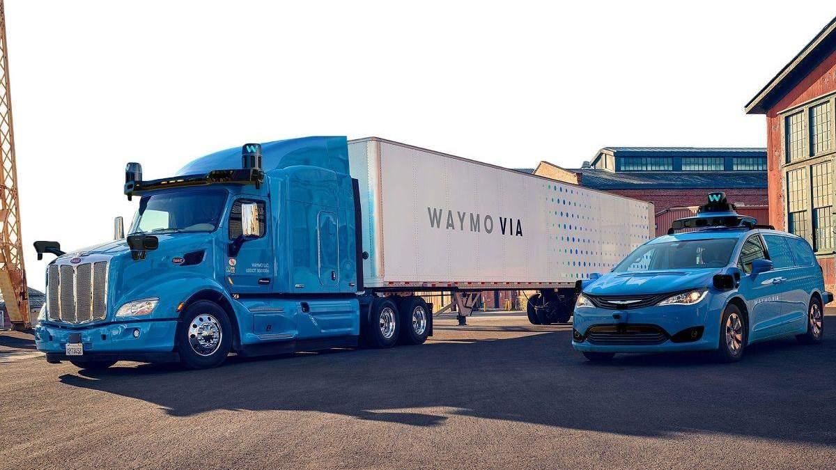 Автономні вантажівки Waymo доставлятимуть вантажі в США
