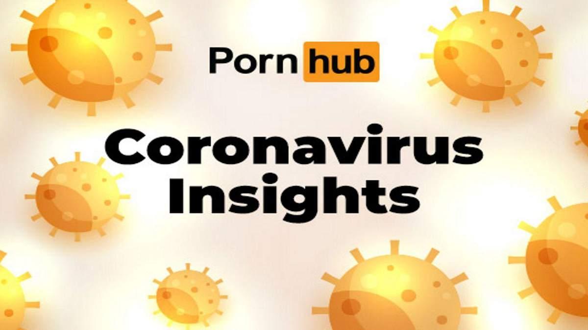 Трафік Pornhub істотно зріс через коронавірус: промовиста інфографіка