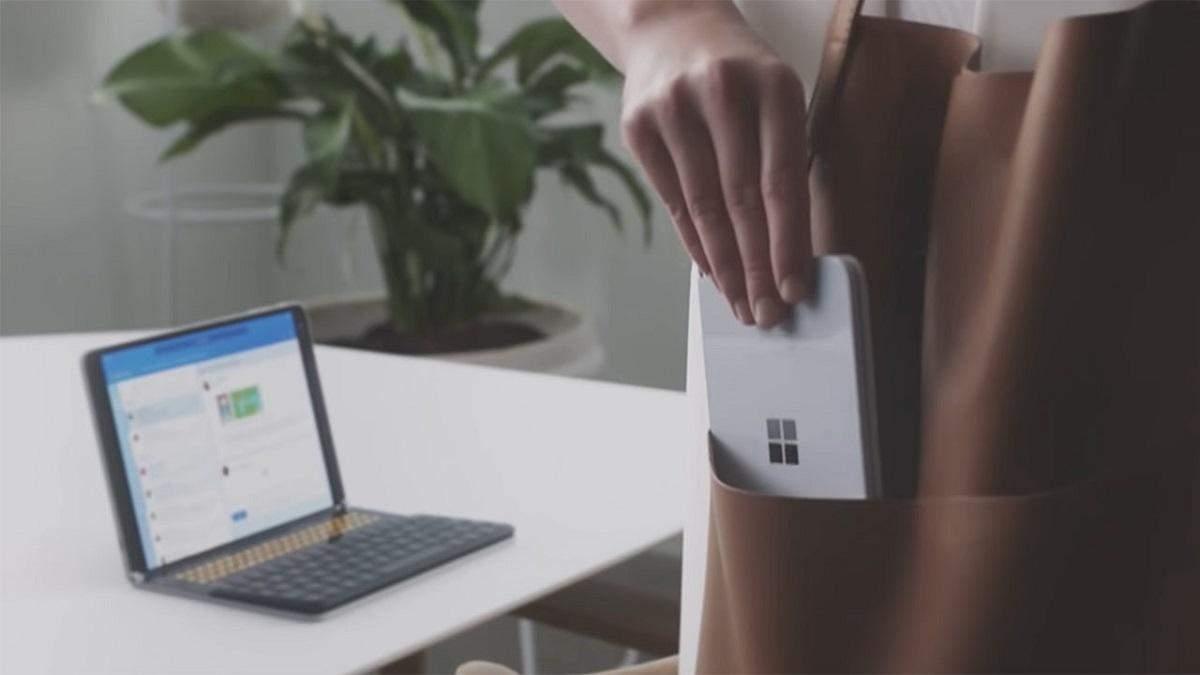 Microsoft поделилась первой фотографией со складного смартфона Surface Duo