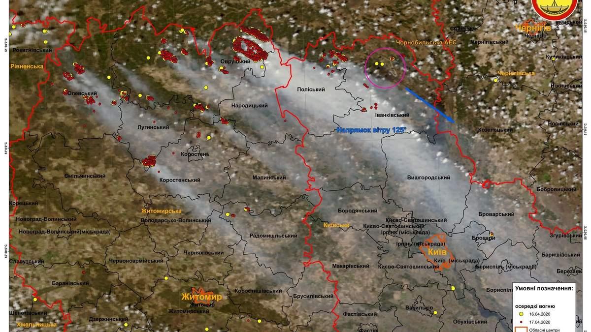 Последствия масштабных пожаров в Украине: фото со спутников