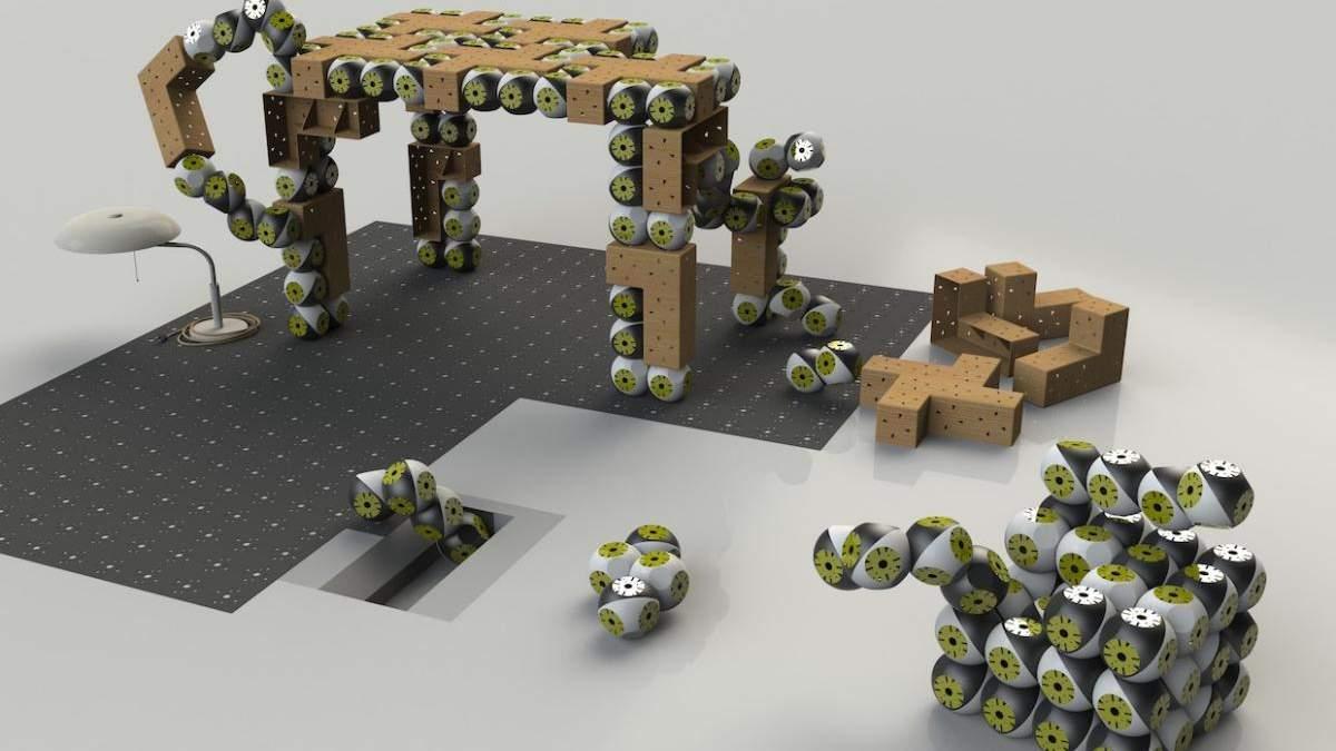 Модульні роботи Roombots перетворять будь-які меблі в розумні: відео
