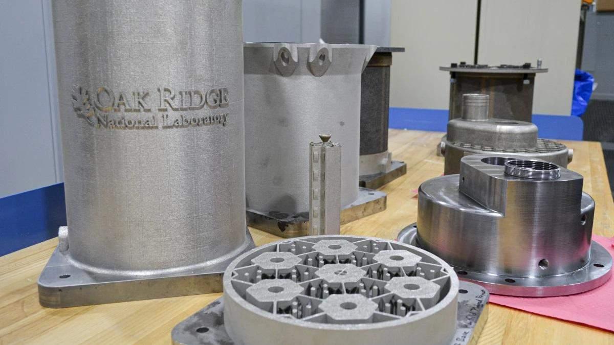 Напечатанные на 3D-принтере компоненты для прототипа реактора