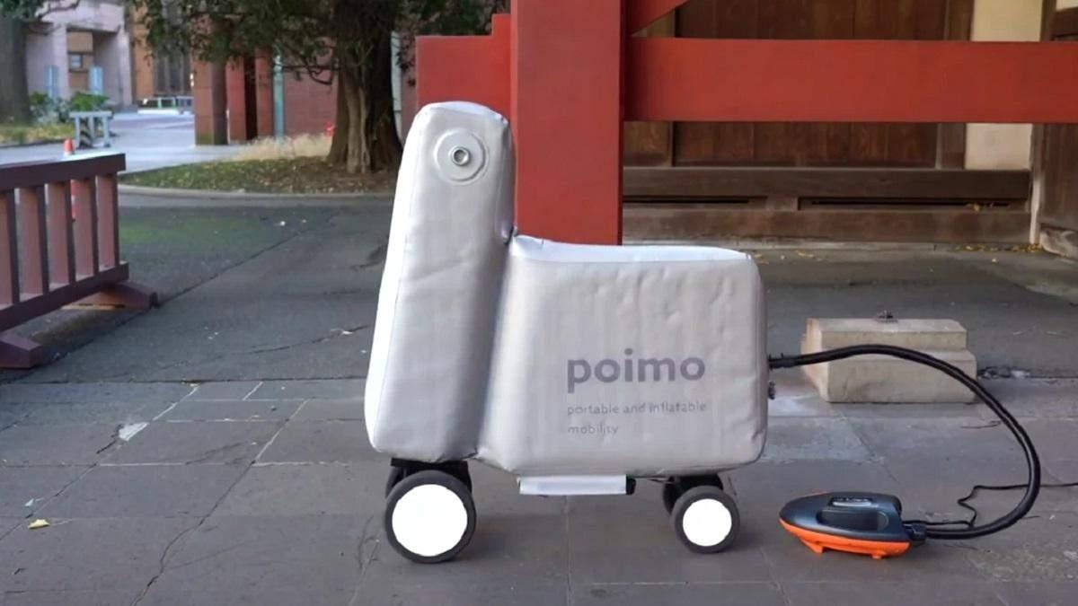 Piomo: надувной электровелосипед, влезающий в рюкзак –  видео