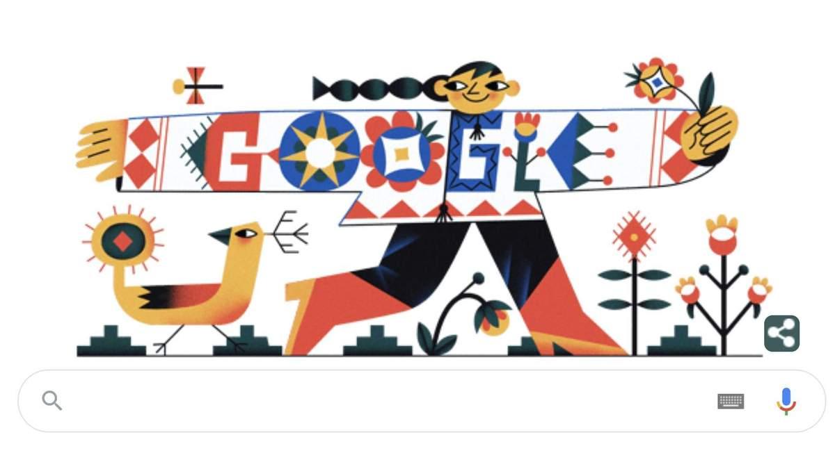 Новий дудл від Google – до Дня вишиванки