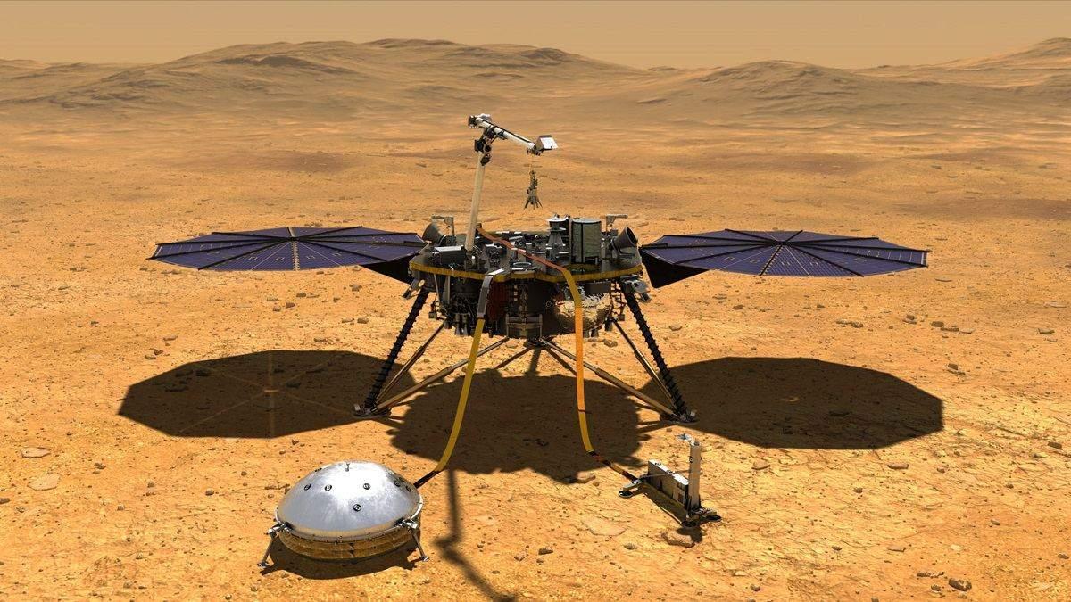 Марсианский аппарат InSight наконец поместил свой измерительный зонд под поверхность