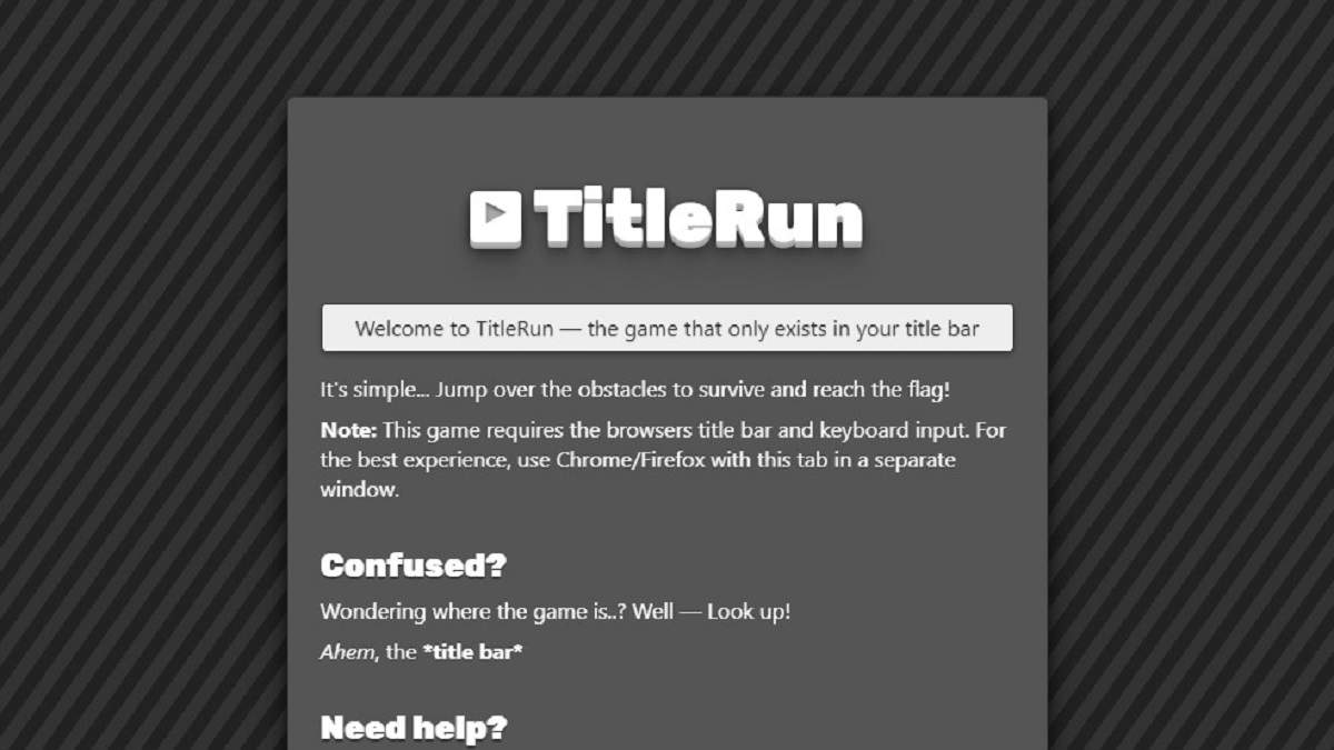 Программист создал необычную игру в заголовке вкладки браузера