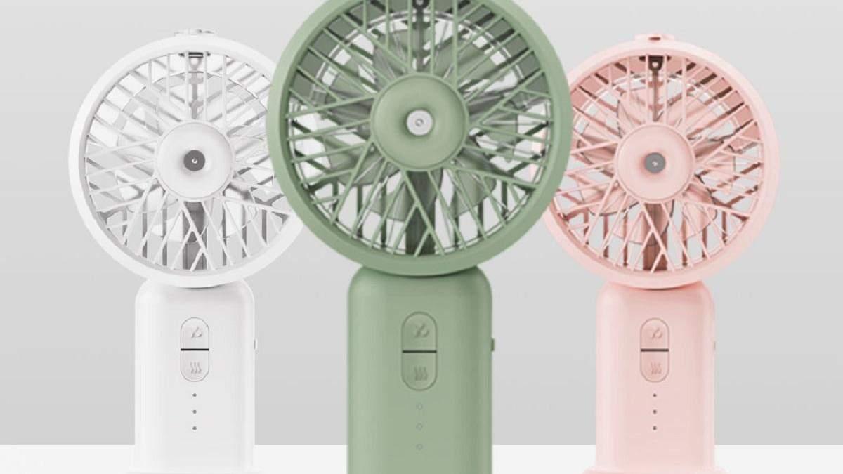 Xiaomi представила бюджетний портативний вентилятор з вбудованим зволожувачем