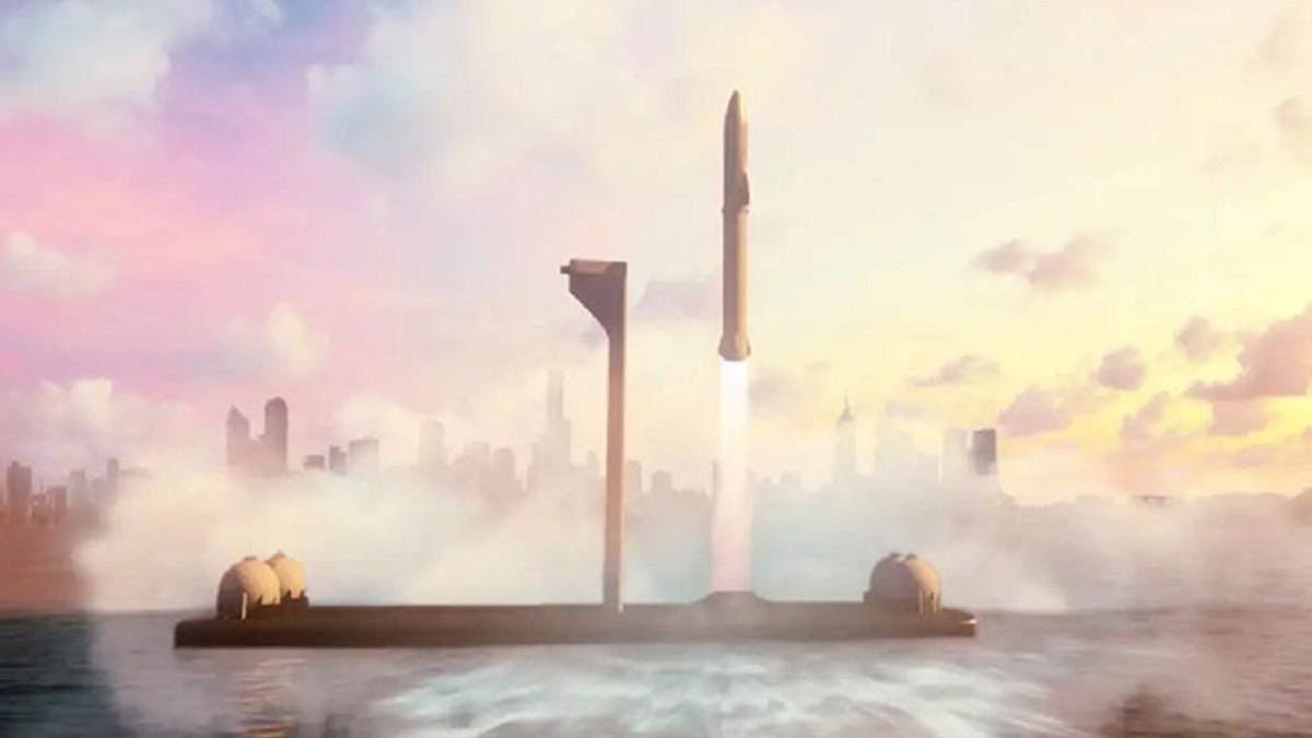 SpaceX будує плаваючі космодроми надважкого класу для подорожей на Марс та Місяць