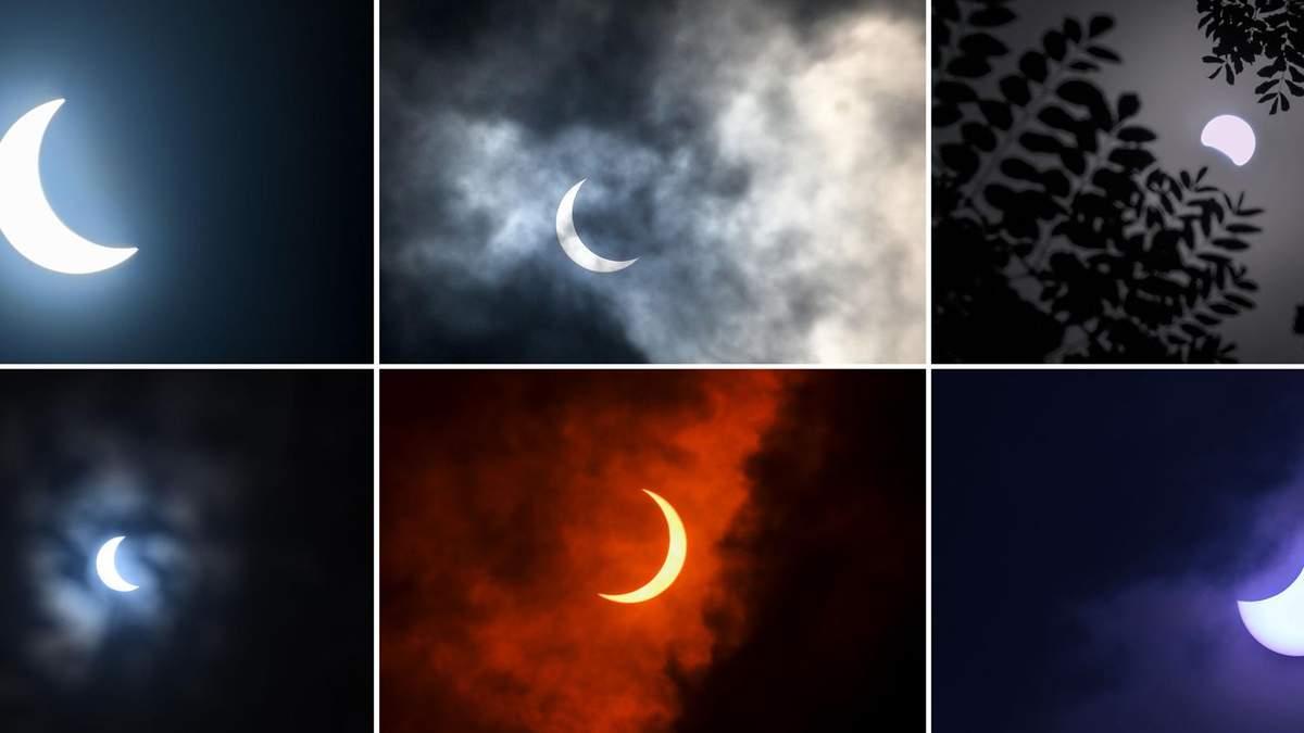Огненное кольцо - солнечное затмение 21 июня 2020 - фото, видео