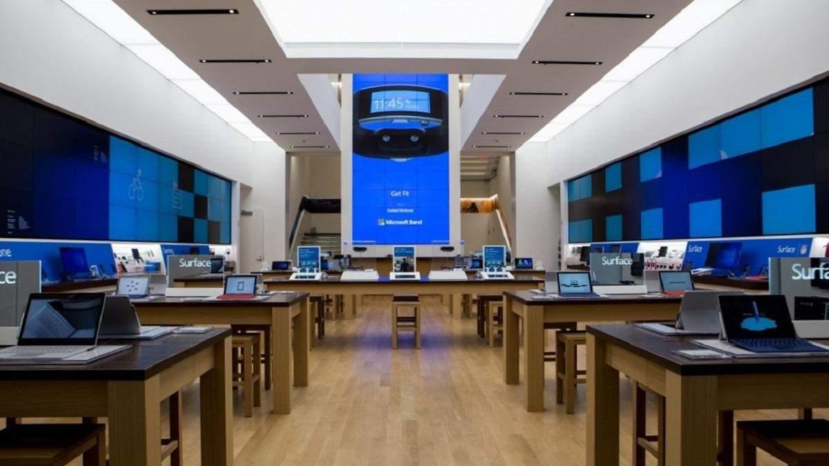 Microsoft закриє майже всі свої роздрібні магазини