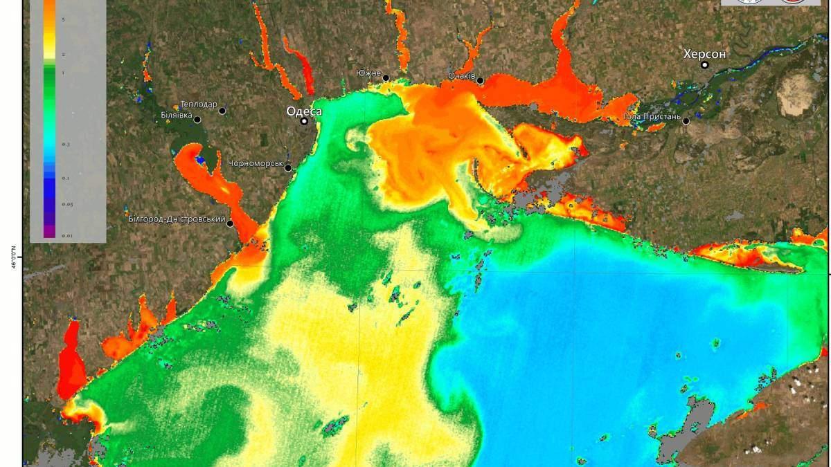 """Як """"цвіте"""" Чорне море: фото та відео із супутника"""