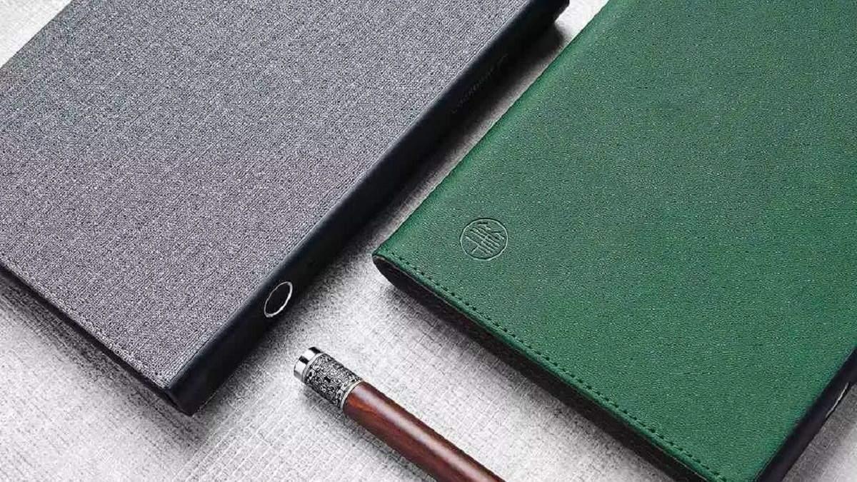 Xiaomi представила бумажный блокнот с датчиком отпечатков пальцев