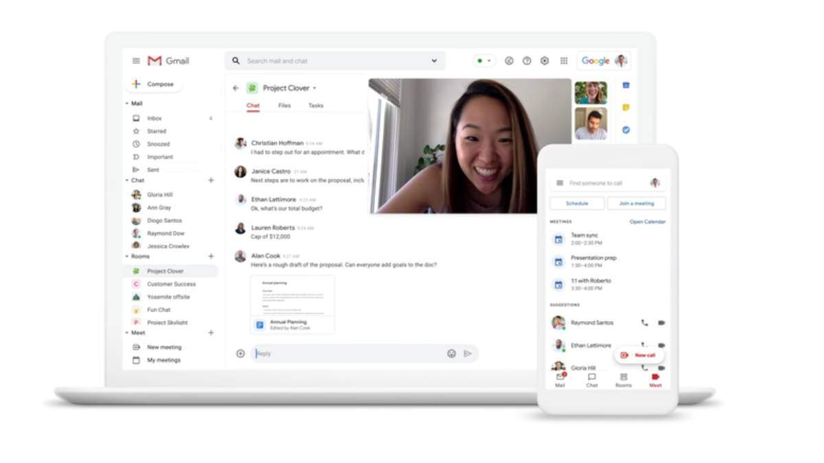 Google существенно изменил Gmail фото нового дизайна фото, видео