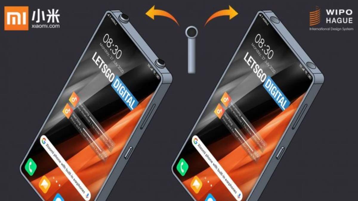 Xiaomi запатентувала смартфон з кишенькою для навушників