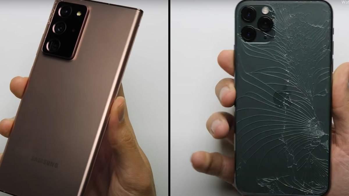 Galaxy Note20 Ultra и iPhone 11 Pro Max: кто крепче
