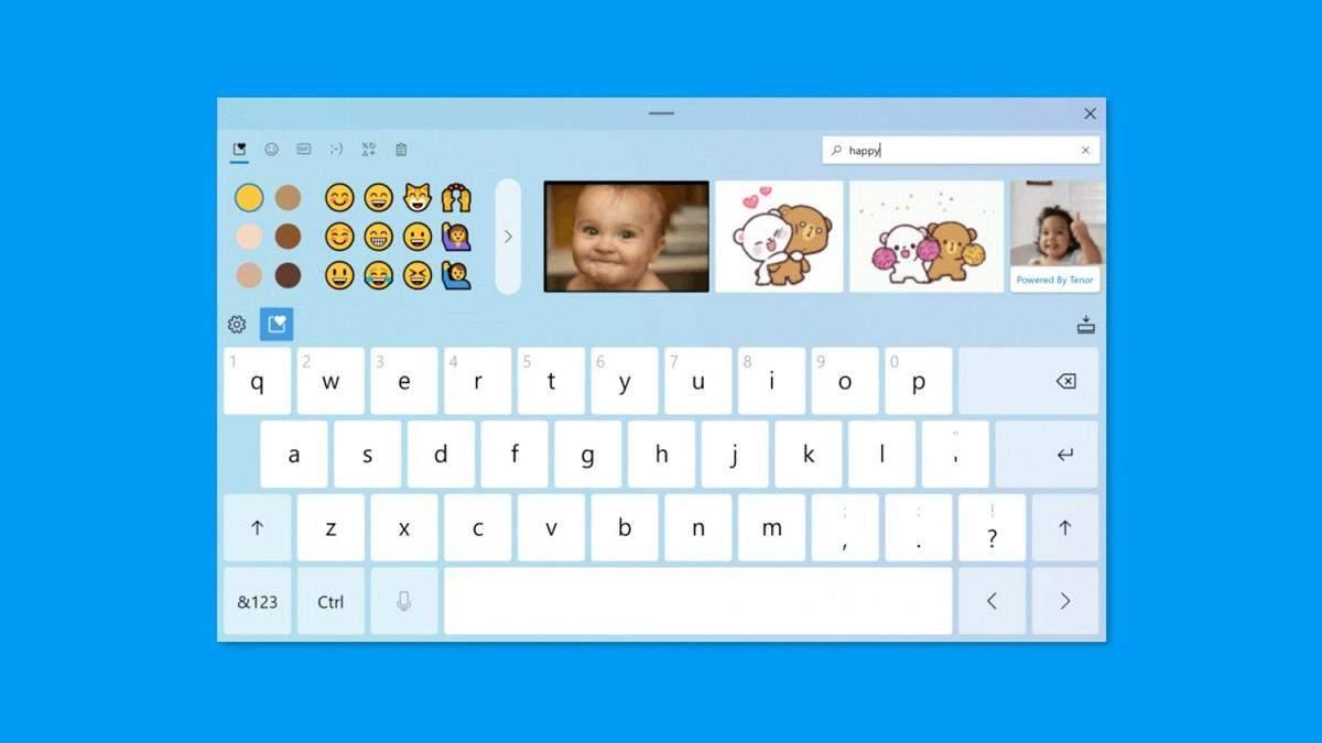 В Windows 10 обновили дизайн виртуальной клавиатуры и голосового ввода