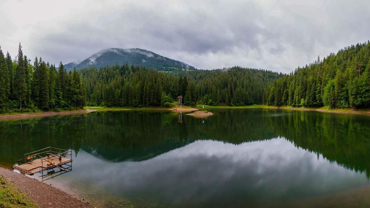 4G на озере Синевир