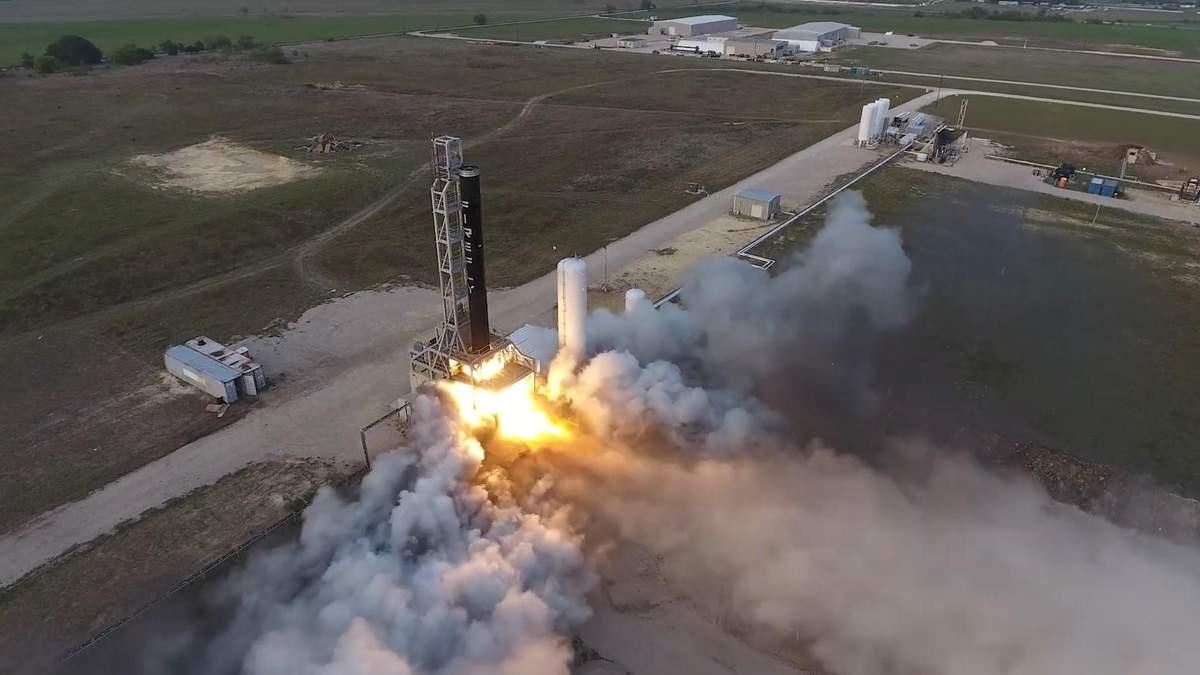 Ракета Alpha во время испытаний