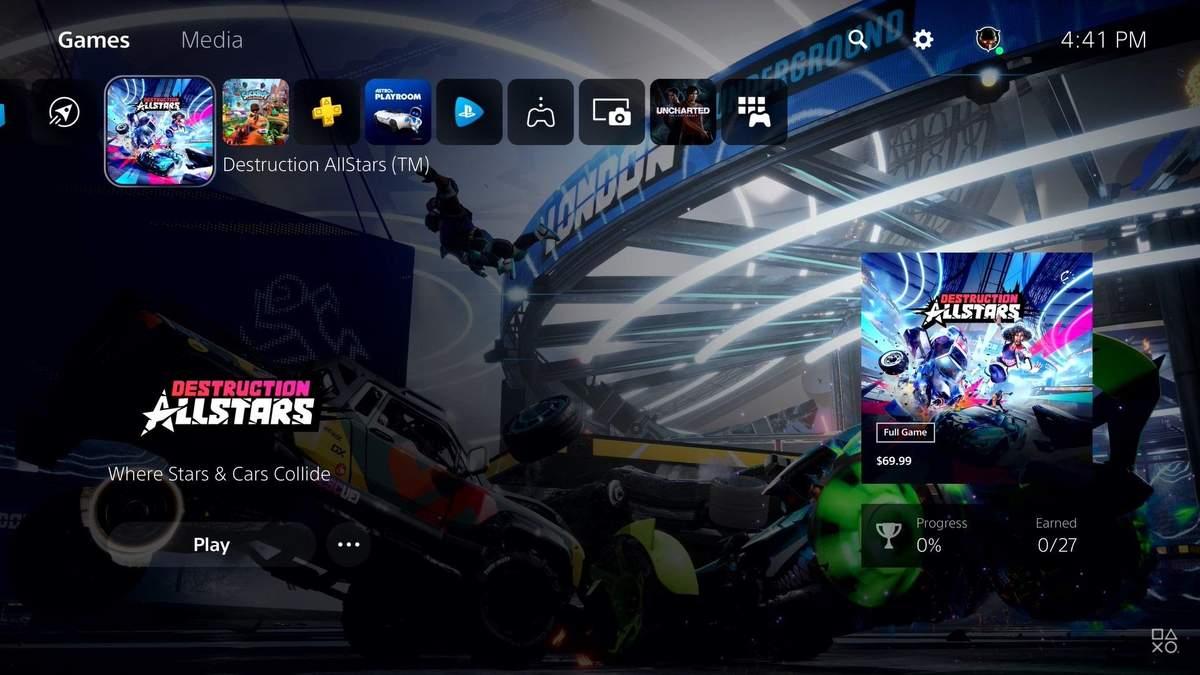 Інтерфейс PlayStation 5 показали на відео