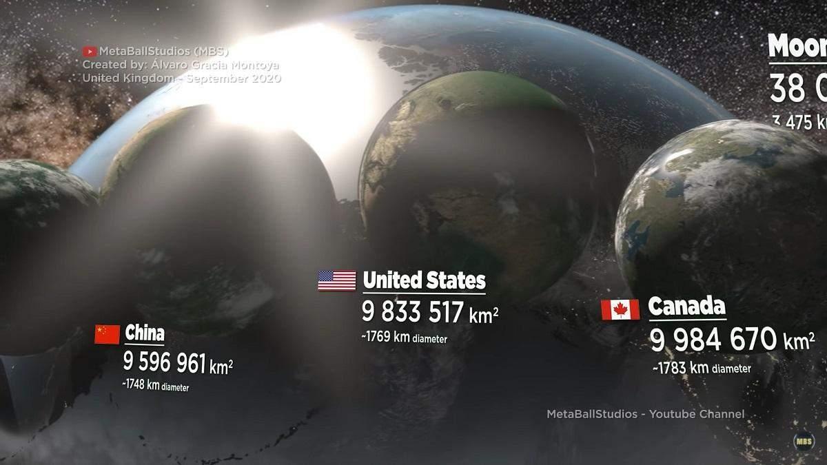 Блогер показав країни у формі планет: пізнавальне відео