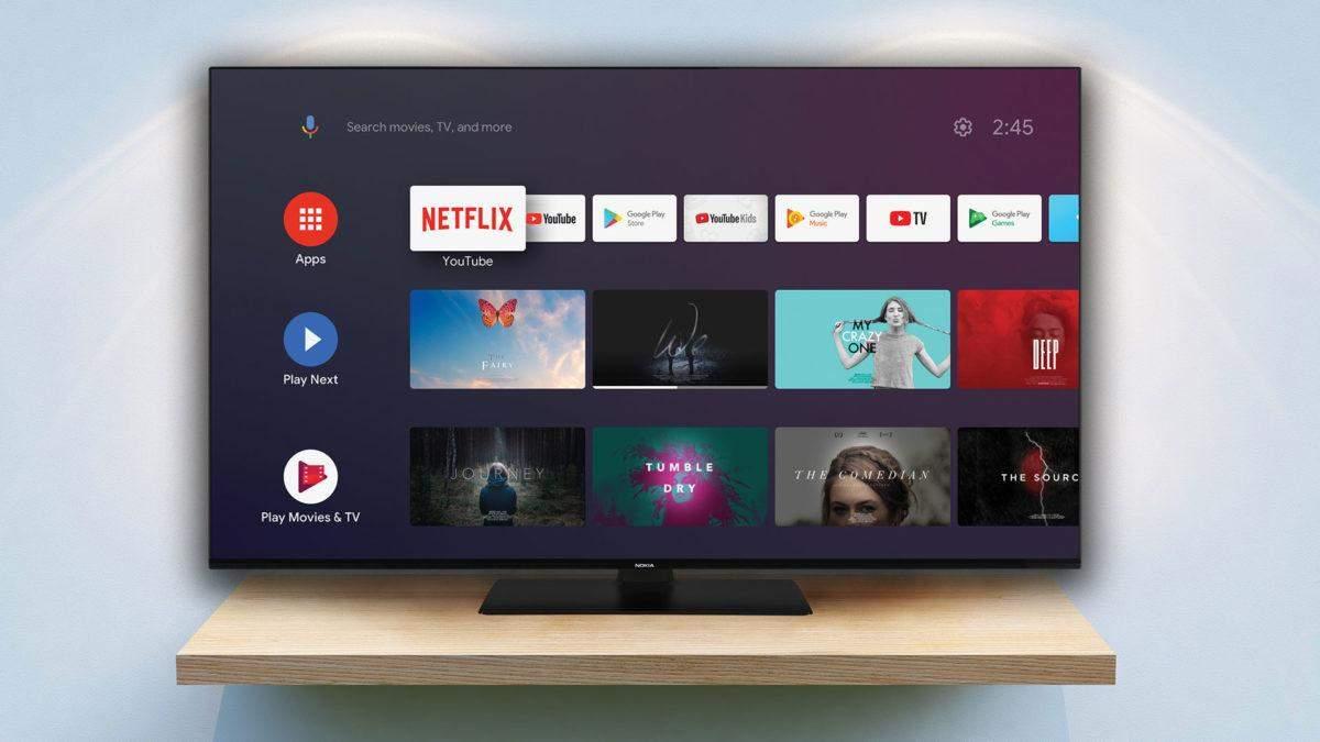 Nokia показала дешеві 4K-телевізори і телеприставку на Android 10