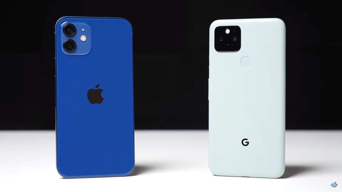 iPhone 12 порівняли з Google Pixel 5, Новини Техно 24