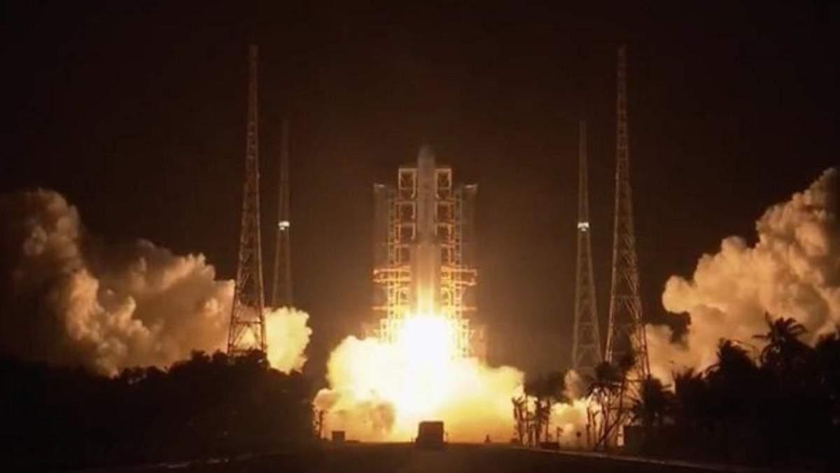 Китай успешно запустил ракету-носитель на Луну 23.11.2020: видео