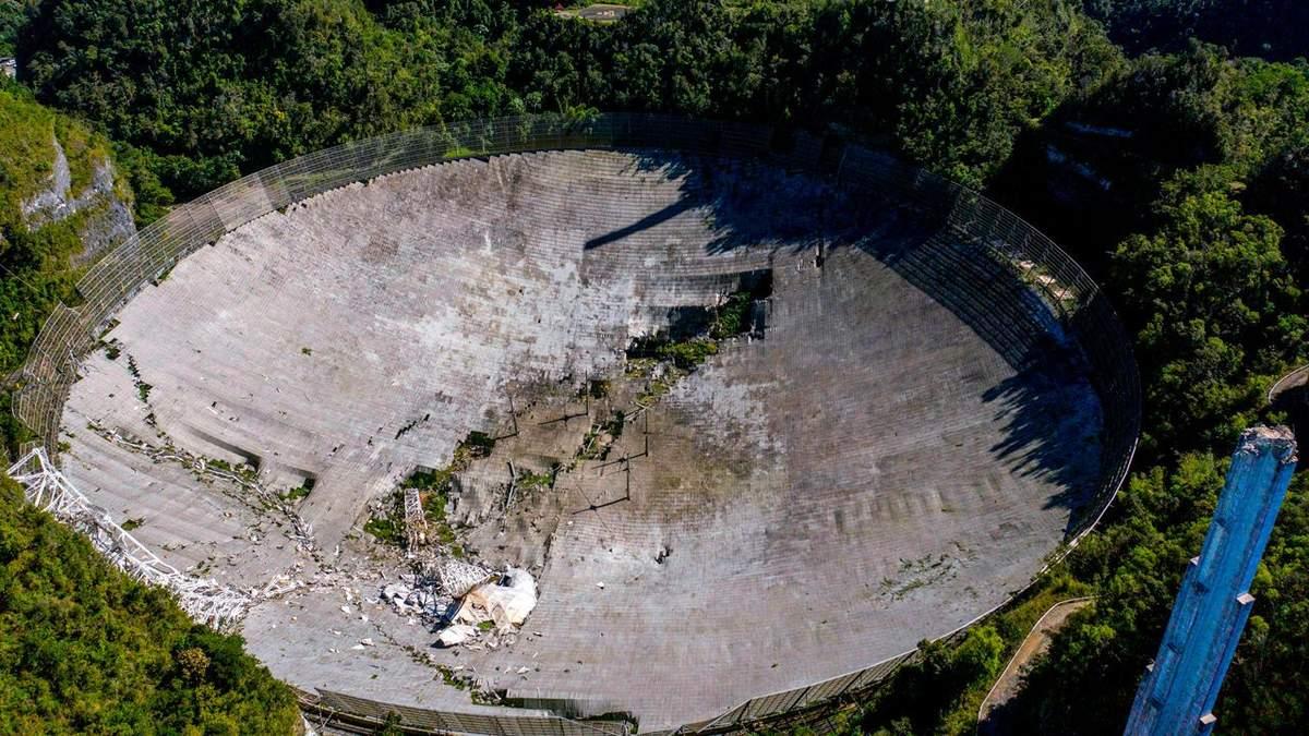 Телескоп Аресібо обвалився: фото
