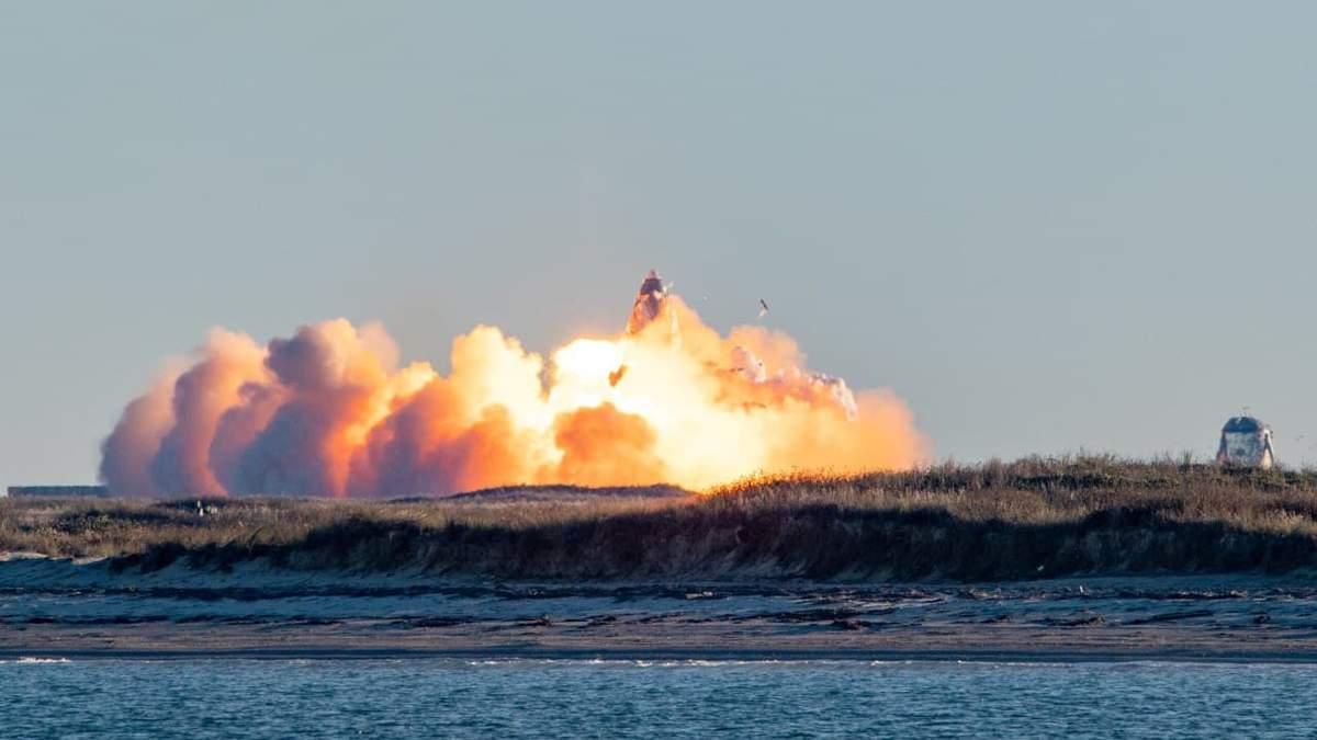 Прототип корабля SpaceX Starship вибухнув під час тестового польоту: вражаюче відео