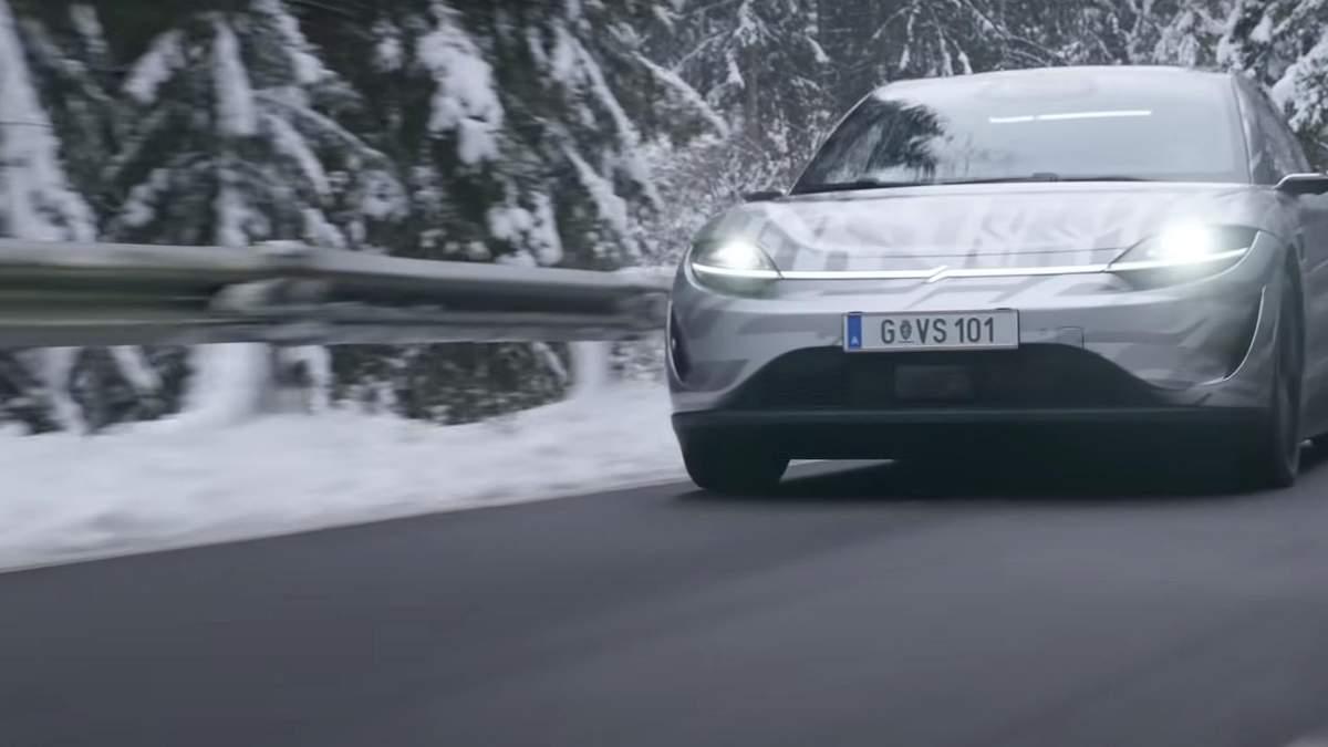 Vision-S первый электромобиль Sony уже тестируют на дорогах