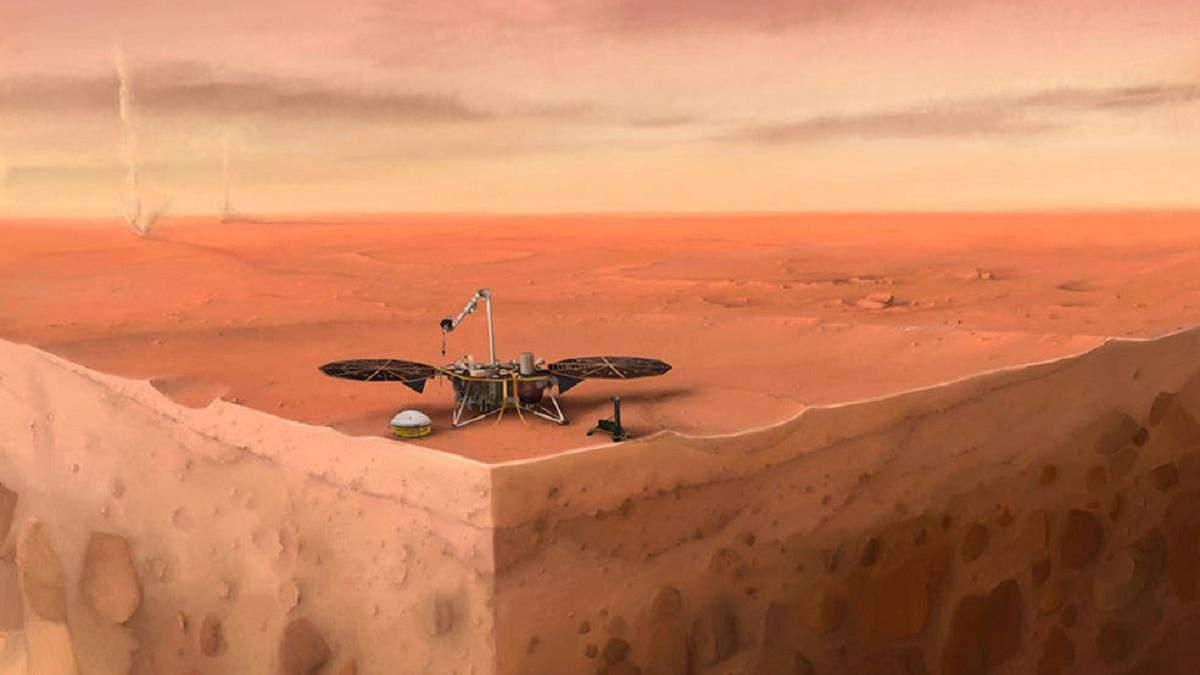 Зонд InSight прекратил попытки измерить температуру под поверхностью Марса