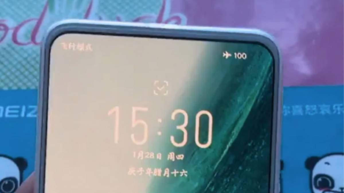 Непредставлений Meizu 18 з підекранною камерою засвітився на відео