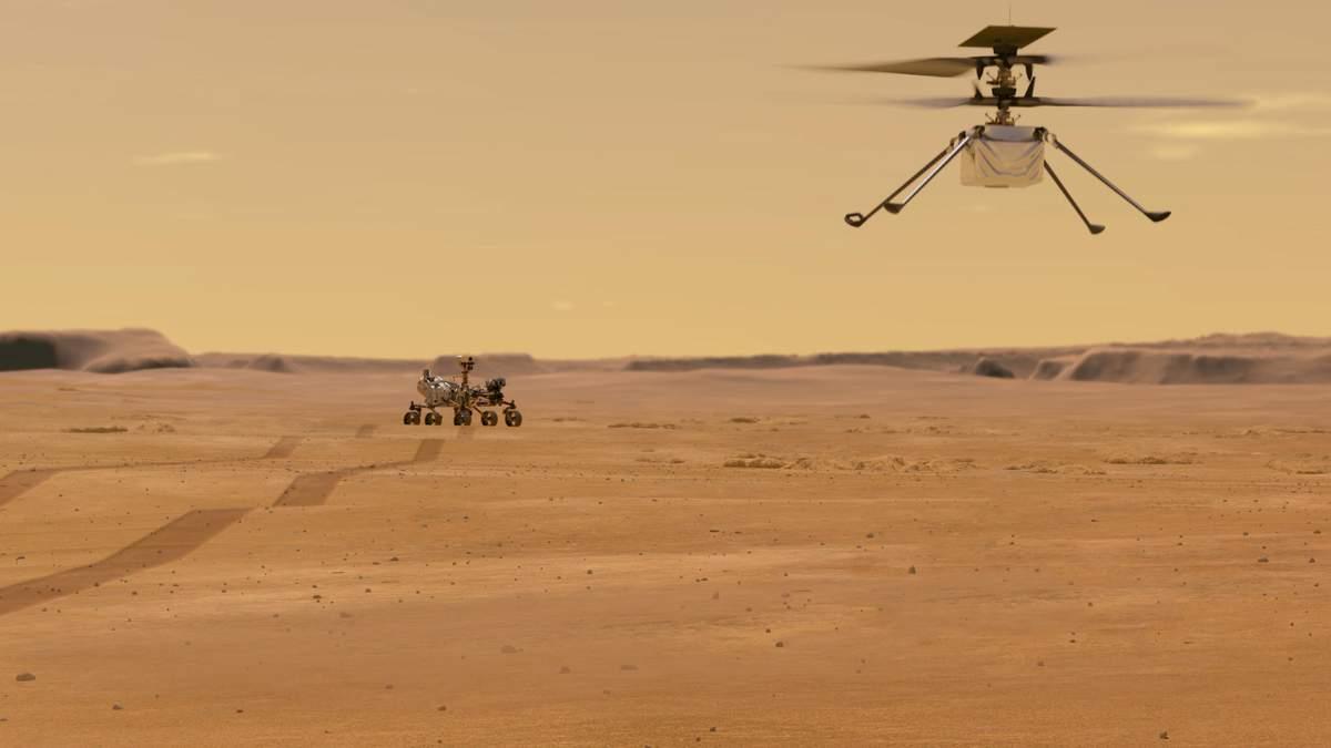 Марсианский вертолет Ingenuity сообщил NASA об исправности систем