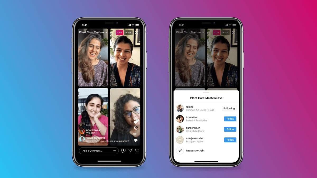 Instagram представляет Live Rooms – прямые трансляции с четырьмя участниками и монетизацией