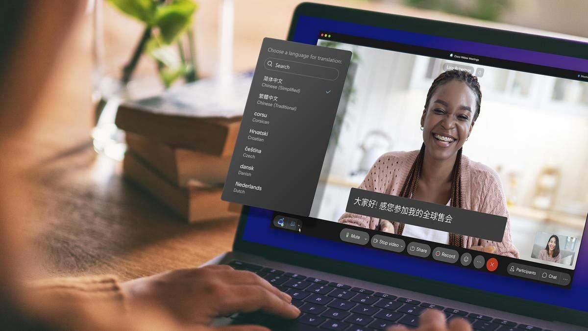 У сервісі відеоконференцій Cisco з'явився переклад у реальному часі з англійської
