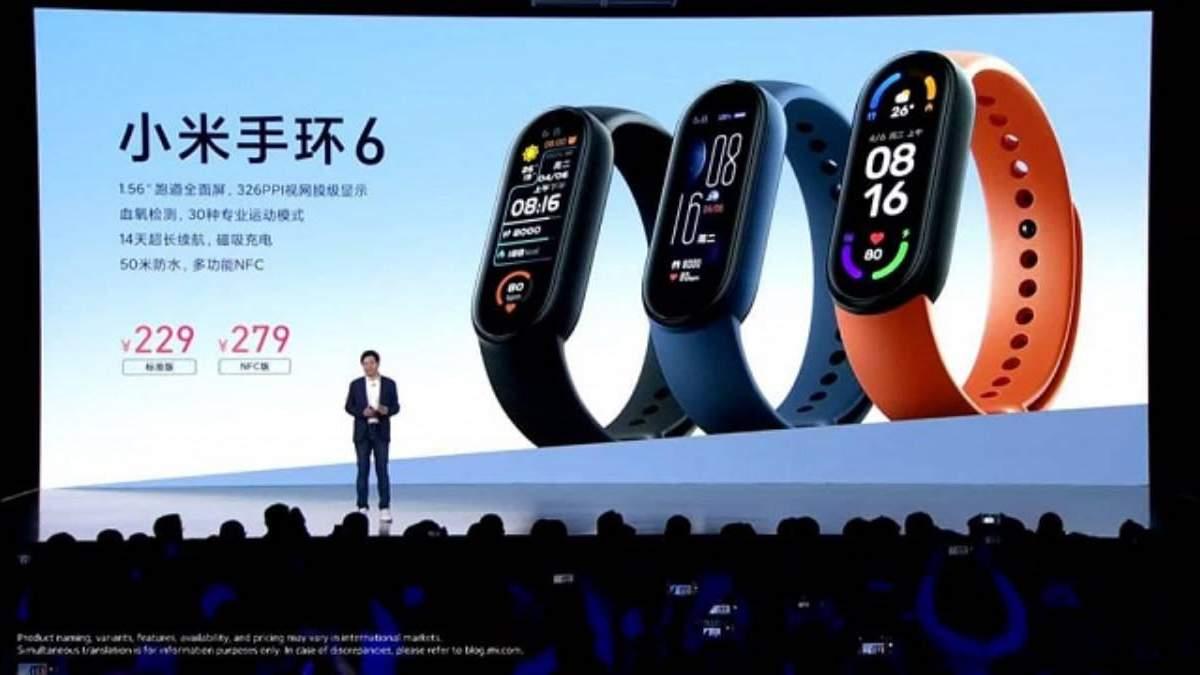 Xiaomi Mi Band 6: презентували нове покоління  фітнес-трекера