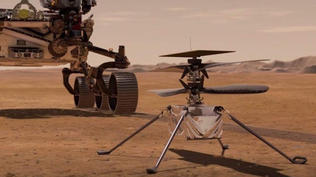 NASA развернуло марсианский вертолет под ровером и подготовило его к высадке