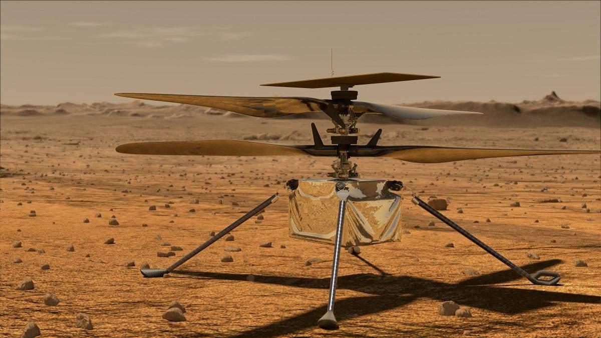 Марсианский вертолет Ingenuity пережил ночь и прислал на Землю цветное фото