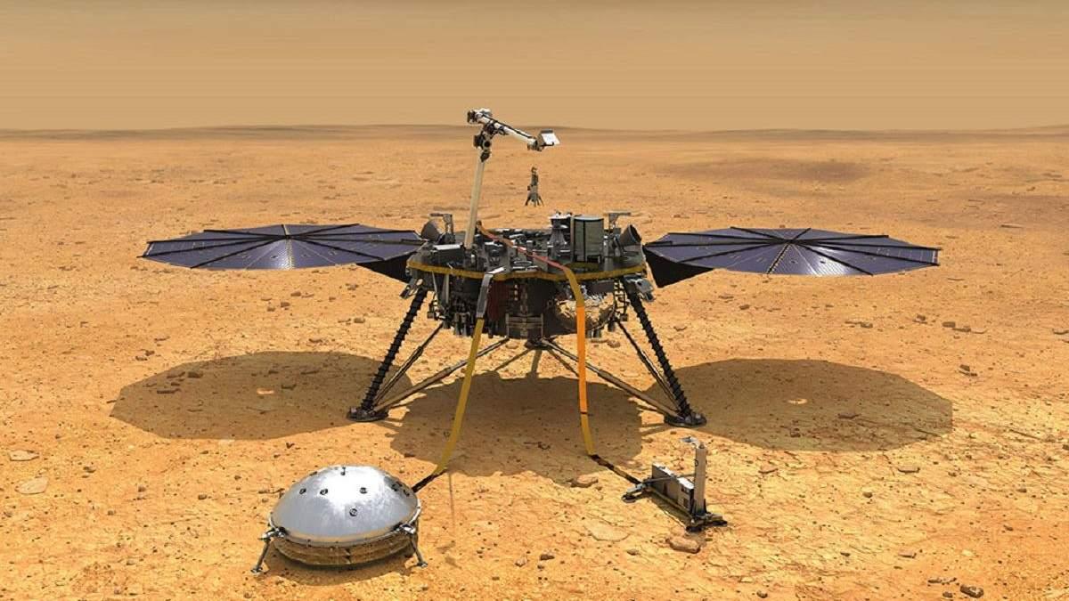 Зонд InSight може перейти в режим гібернації через сувору погоду на Марсі