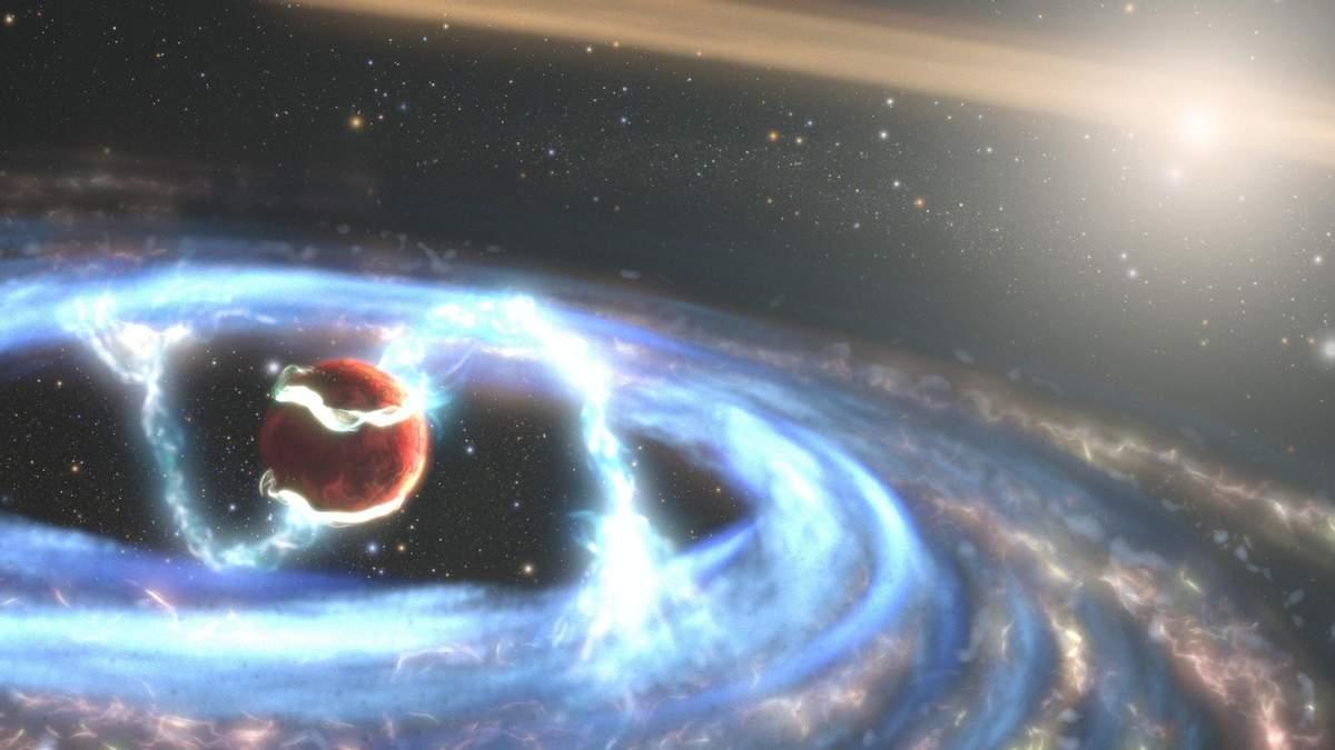 Телескопу Hubble удалось наблюдать формирование экзопланеты