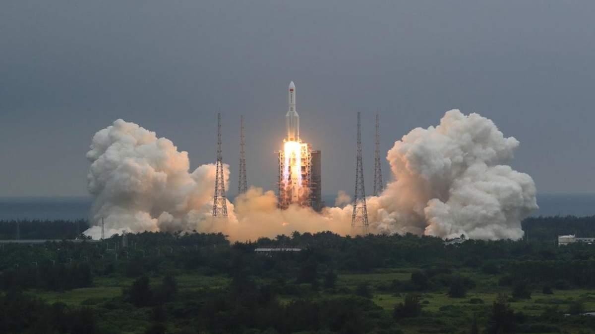 Китайская ракета упала: место